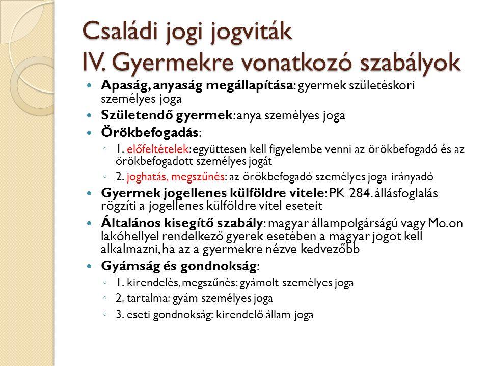 Családi jogi jogviták V.Tartás 2011.