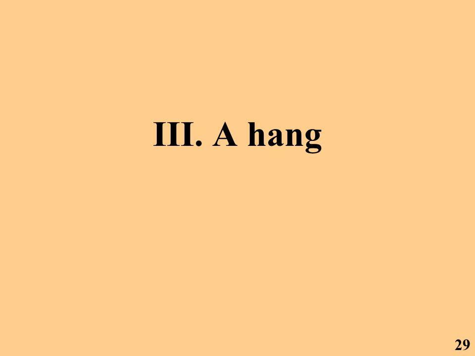 III. A hang 29