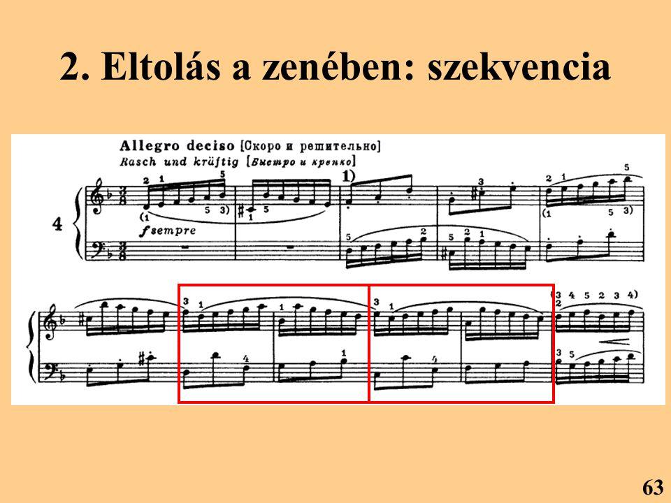 2. Eltolás a zenében: szekvencia 63
