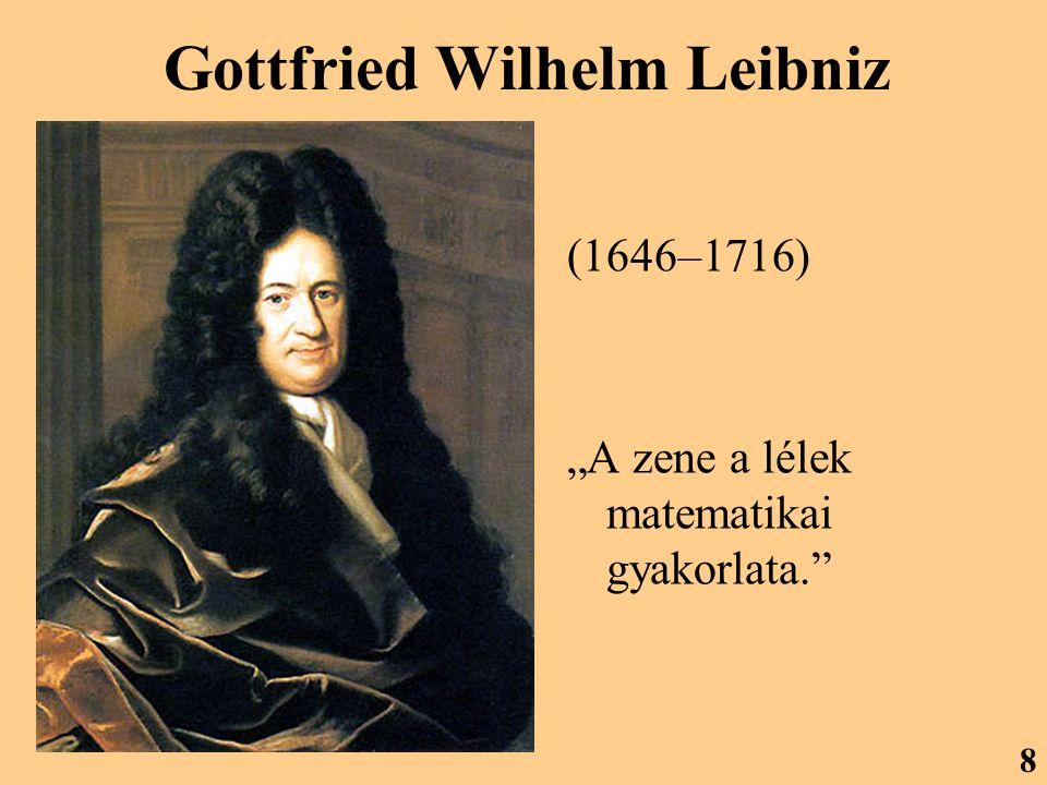 "Gottfried Wilhelm Leibniz (1646–1716) ""A zene a lélek matematikai gyakorlata. 8"