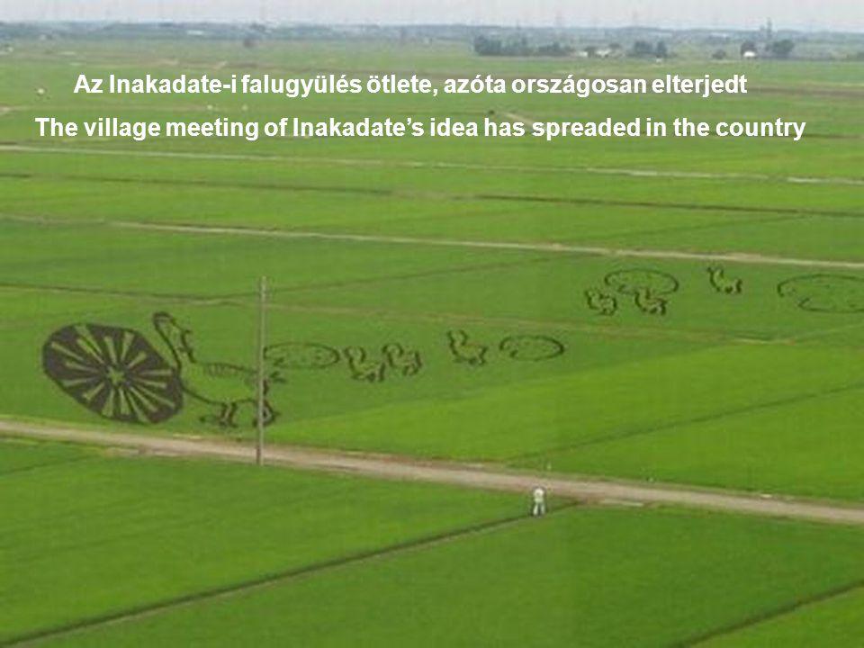 """A """"rizsföldi művészet Inakadate-ból indúlt el 1993 ban The """"rice field art started from Inakadate 1993"""