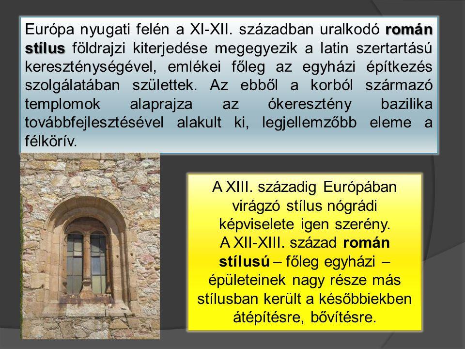 román stílus Európa nyugati felén a XI-XII.