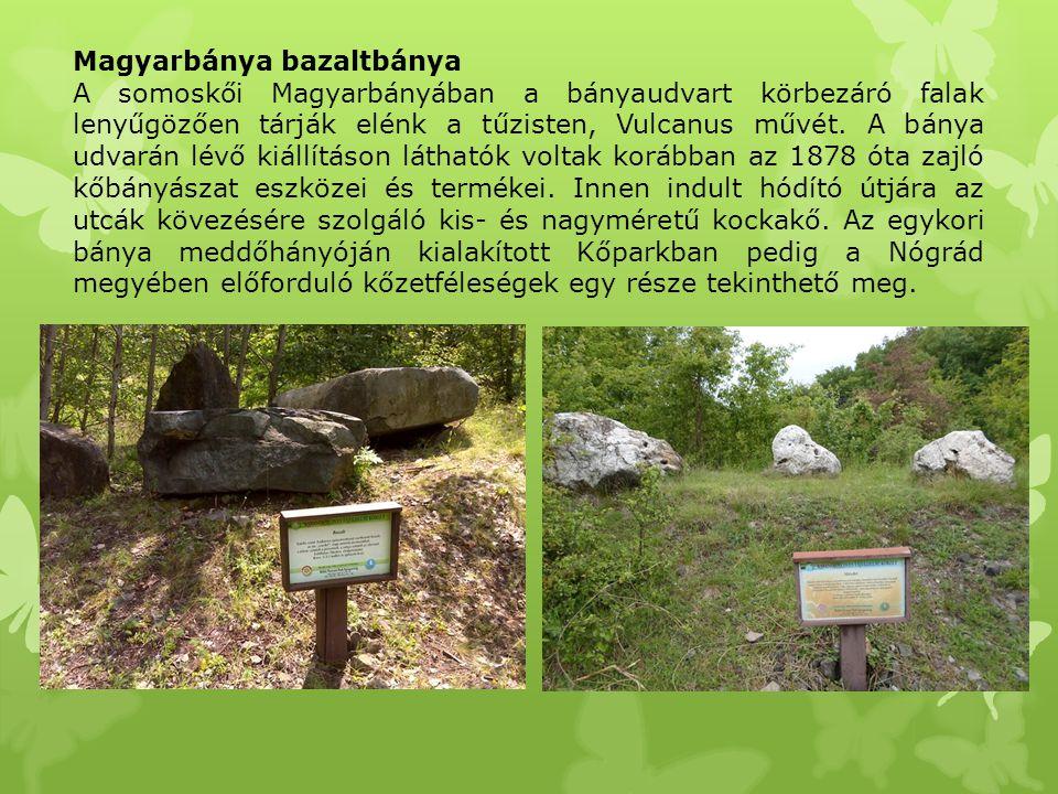 Magyarbánya bazaltbánya A somoskői Magyarbányában a bányaudvart körbezáró falak lenyűgözően tárják elénk a tűzisten, Vulcanus művét. A bánya udvarán l