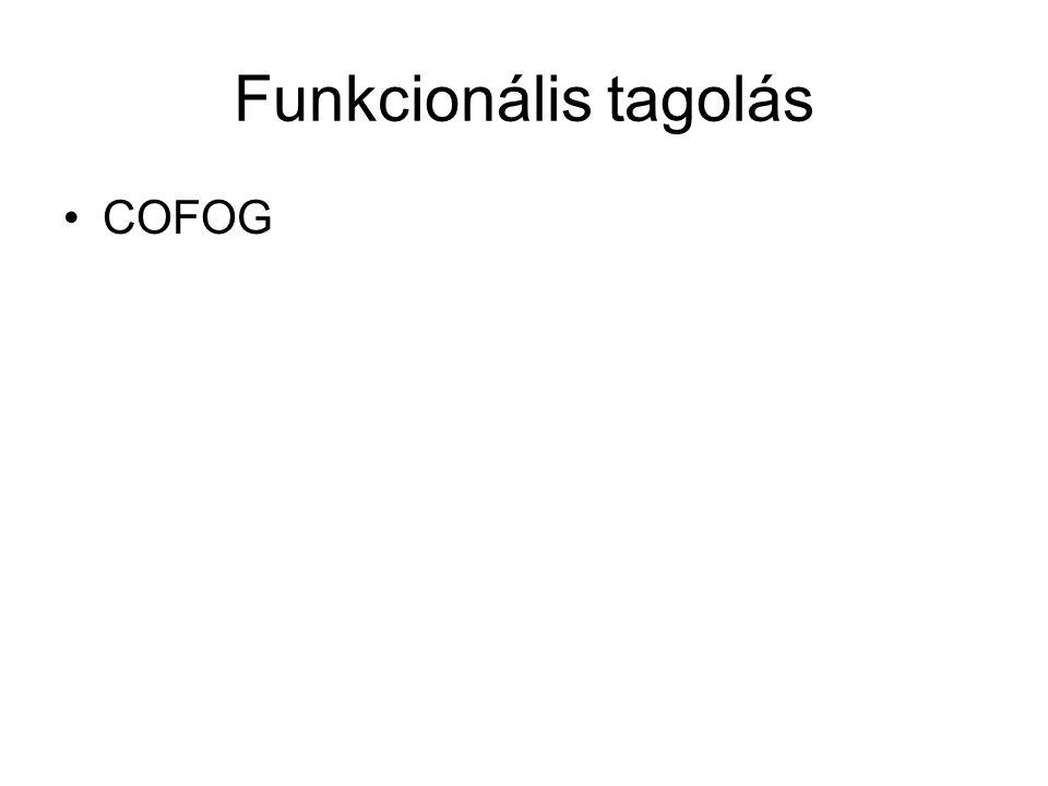 Funkcionális tagolás COFOG
