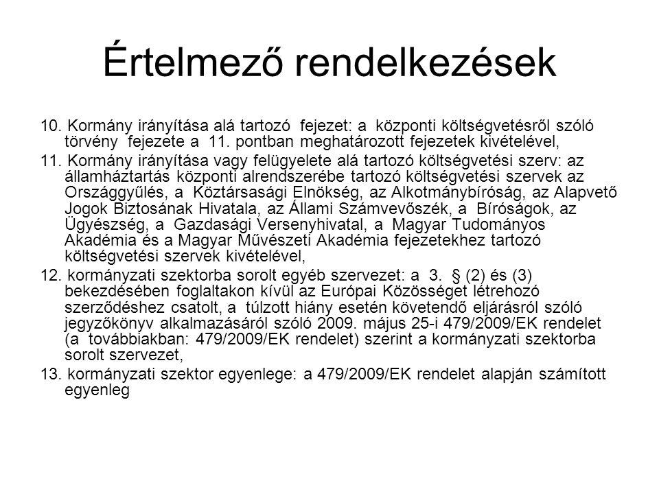 OGY és a Kormány hatásköre 28.Rendkívüli intézkedések Áht.