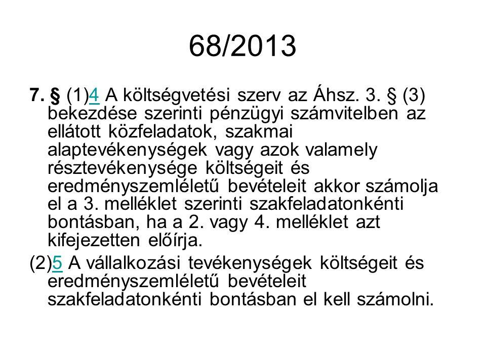 68/2013 7.§ (1)4 A költségvetési szerv az Áhsz. 3.
