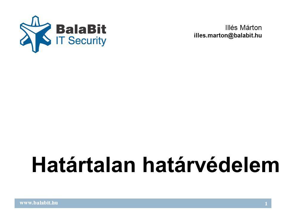 2 www.balabit.hu Áttekintés Támadások új célpontjai Védekezési stratégiák Védekezési eszközök Mire jó a tűzfal?