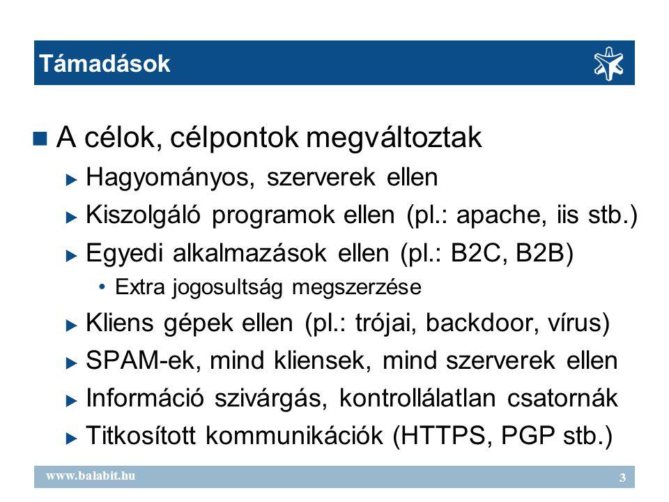 4 www.balabit.hu Védekezési stratégiák ● Többszintű védelem ● Tűzfal, IDS/IPS, Vírus, SPAM-szűrés ● Minden feladatra egy appliance .