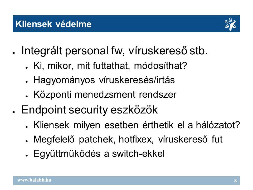 9 www.balabit.hu Összefoglalás Támadások célja az alkalmazásaink A Zorp egy magasbiztonságú proxy tűzfal  Cél az alkalmazási szint teljes kontrolálása  Titkosított forgalom (SSL) kezelése  Flexibilis, testreszabható megoldás  Integráció külső eszközökhöz  Központi menedzsment-rendszer  Kipróbált, magyar termék