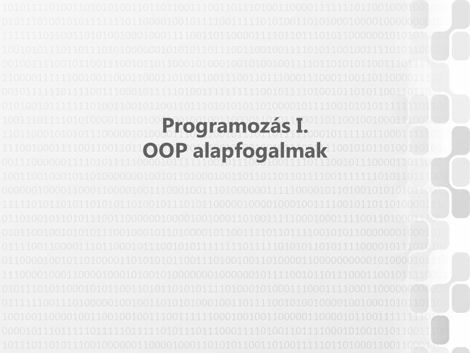 Programozás I. OOP alapfogalmak