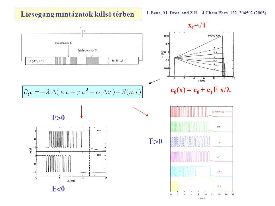 Liesegang mintázatok küls ő térben I. Bena, M. Droz, and Z.R.