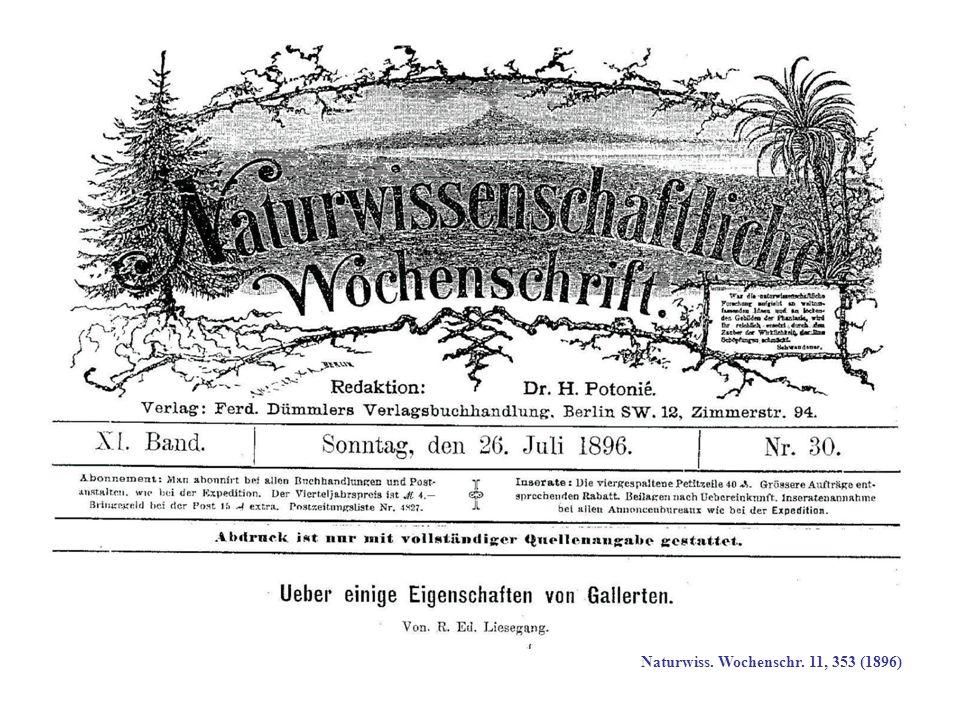 Naturwiss. Wochenschr. 11, 353 (1896)