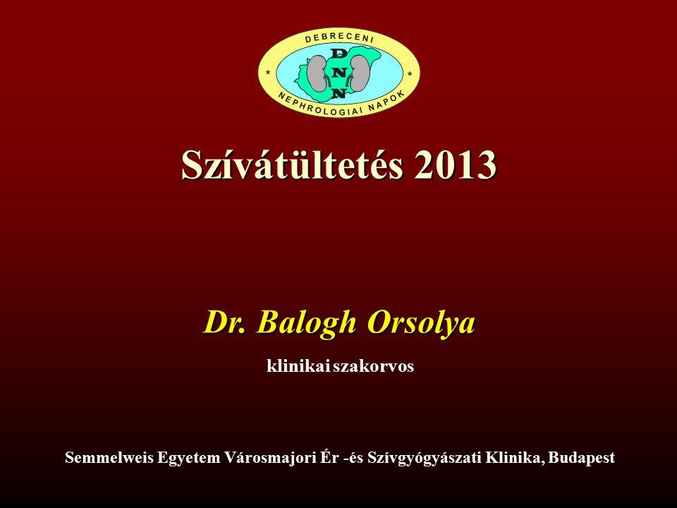 Szívátültetés 2013 Dr.
