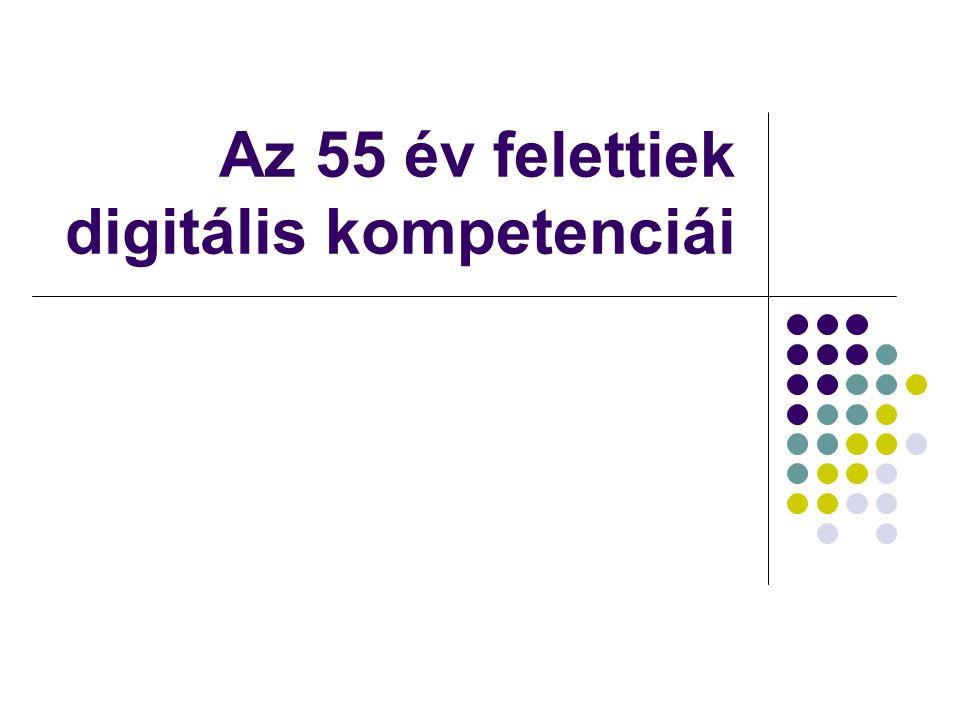 Az 55 év felettiek digitális kompetenciái