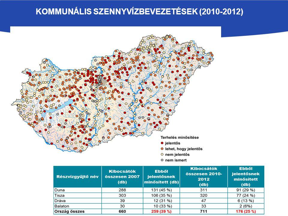 KOMMUNÁLIS SZENNYVÍZBEVEZETÉSEK (2010-2012)