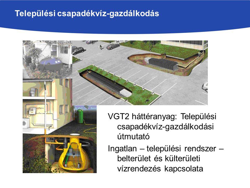Települési csapadékvíz-gazdálkodás VGT2 háttéranyag: Települési csapadékvíz-gazdálkodási útmutató Ingatlan – települési rendszer – belterület és külte