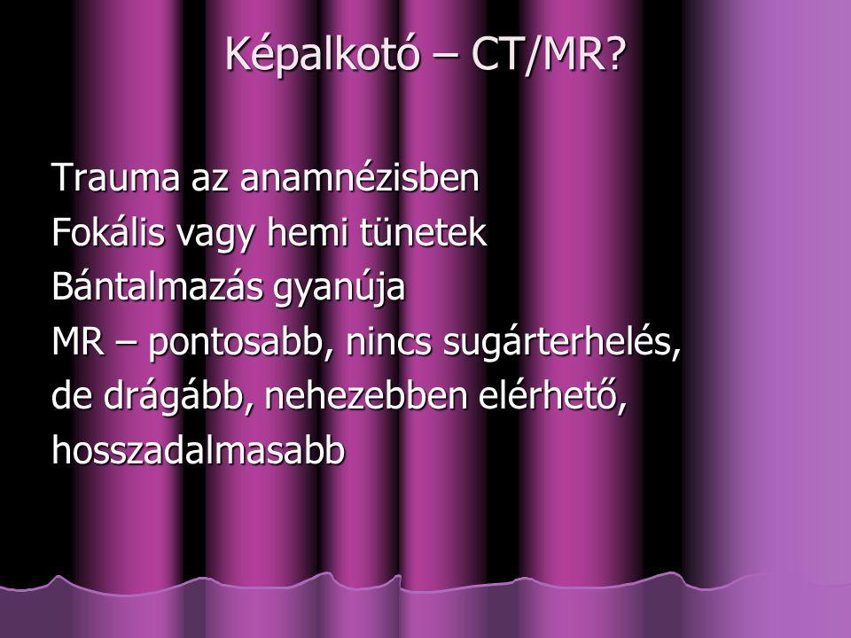 Képalkotó – CT/MR.