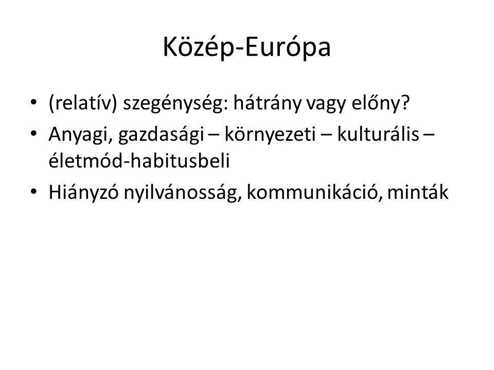 Közép-Európa (relatív) szegénység: hátrány vagy előny.