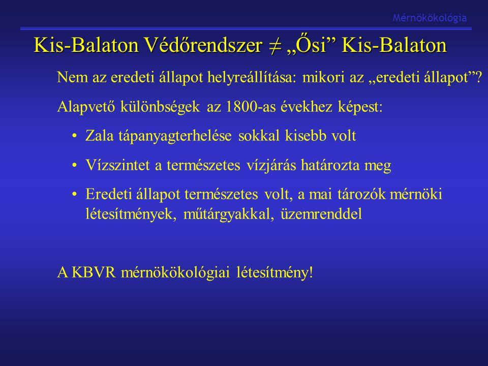 """Mérnökökológia Kis-Balaton Védőrendszer ≠ """"Ősi"""" Kis-Balaton Nem az eredeti állapot helyreállítása: mikori az """"eredeti állapot""""? Alapvető különbségek a"""