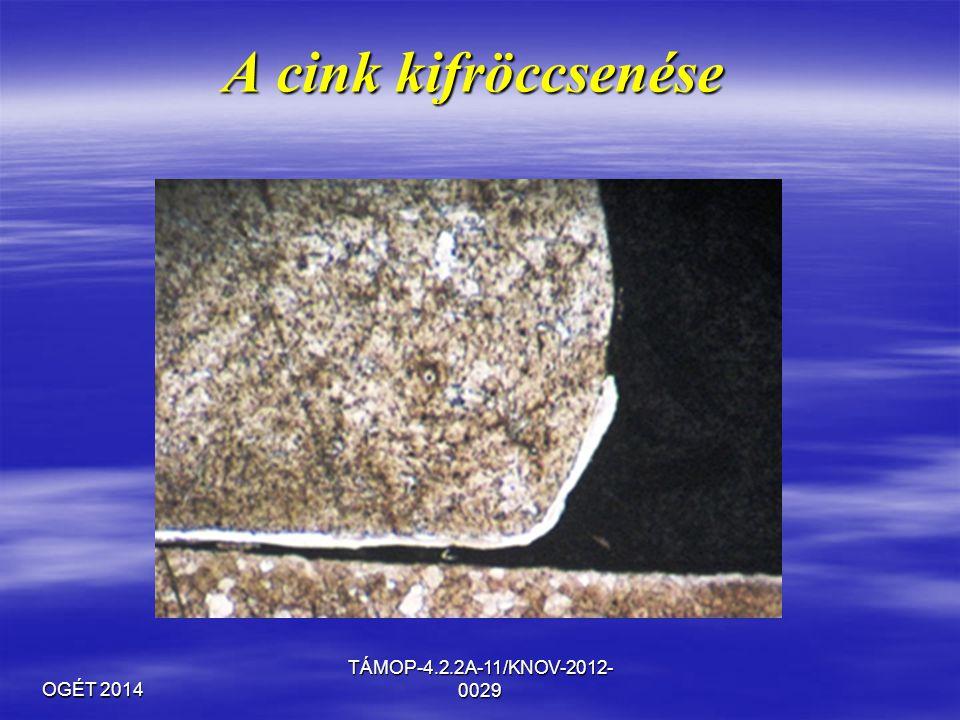 OGÉT 2014 TÁMOP-4.2.2A-11/KNOV-2012- 0029 A cink kifröccsenése