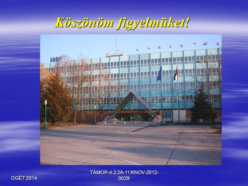 OGÉT 2014 TÁMOP-4.2.2A-11/KNOV-2012- 0029