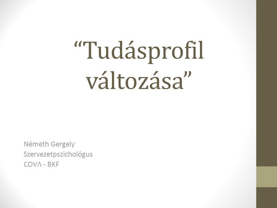 Tudásprofil változása Németh Gergely Szervezetpszichológus COVΛ - BKF