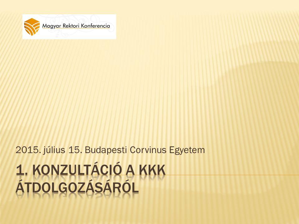 2015. július 15. Budapesti Corvinus Egyetem