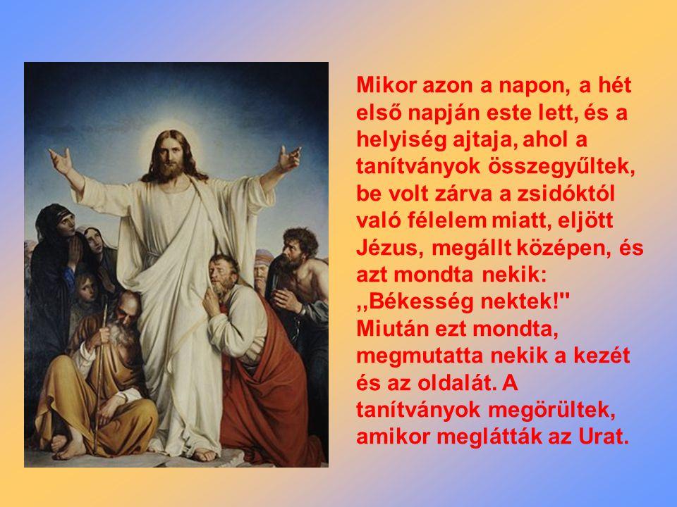 Húsvét II Vasárnapja A - év A - év J n 20,19-31