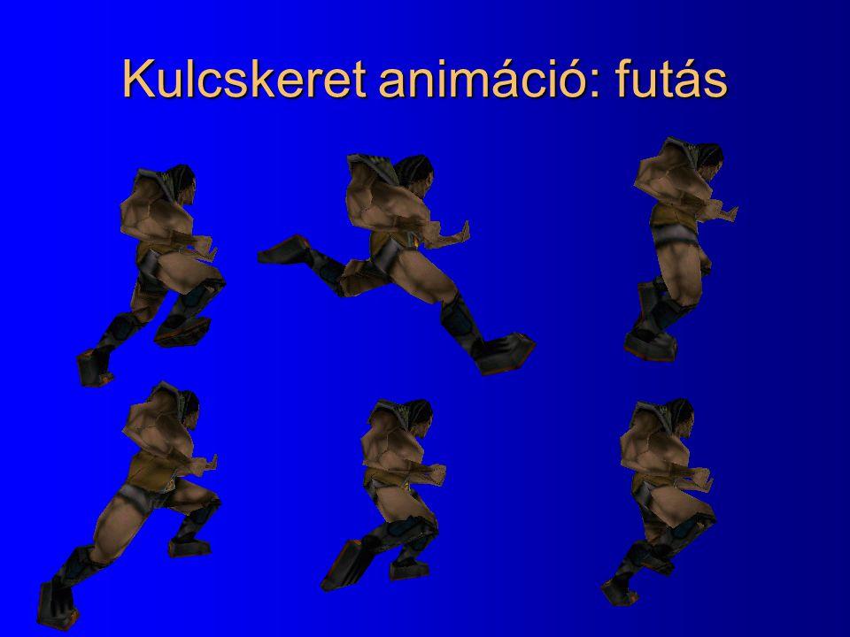 Kulcskeret animáció: futás