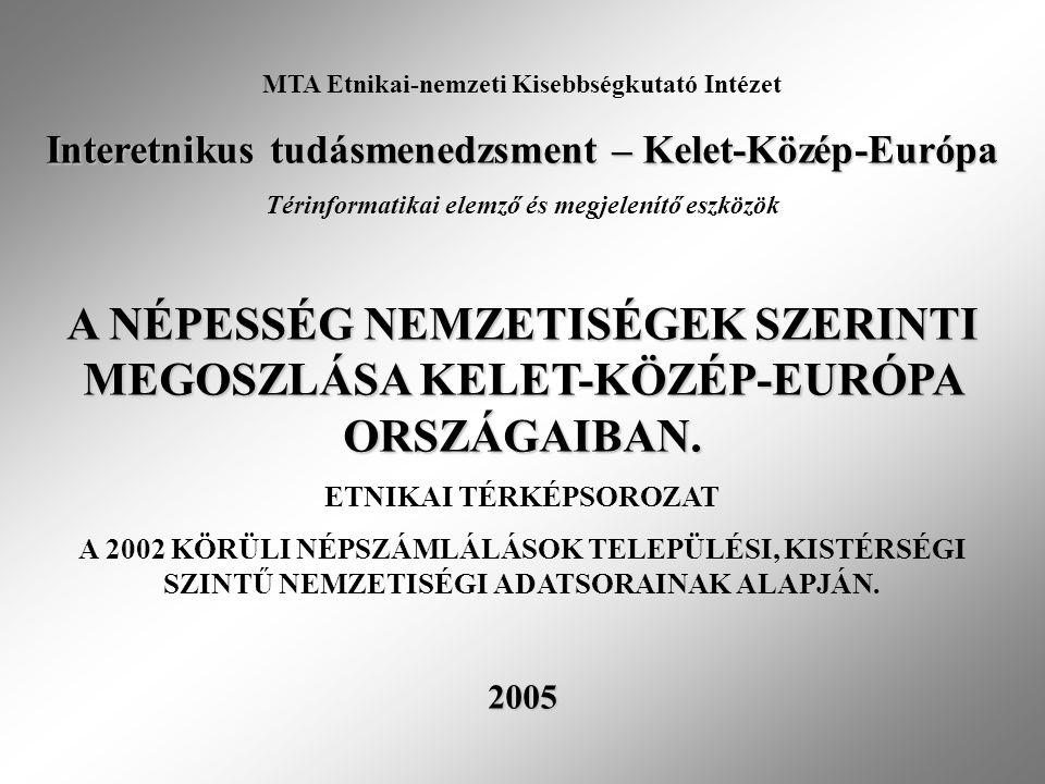 MTA Etnikai-nemzeti Kisebbségkutató Intézet Interetnikus tudásmenedzsment – Kelet-Közép-Európa Térinformatikai elemző és megjelenítő eszközök A NÉPESS