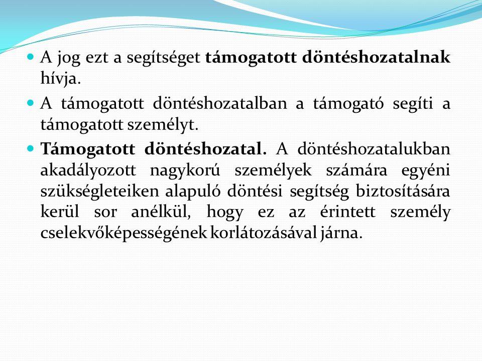A támogató részvétele a gyámhatósági és egyéb eljárásokban (Gyvt., Ket., Pp., Be., Eütv.) I.