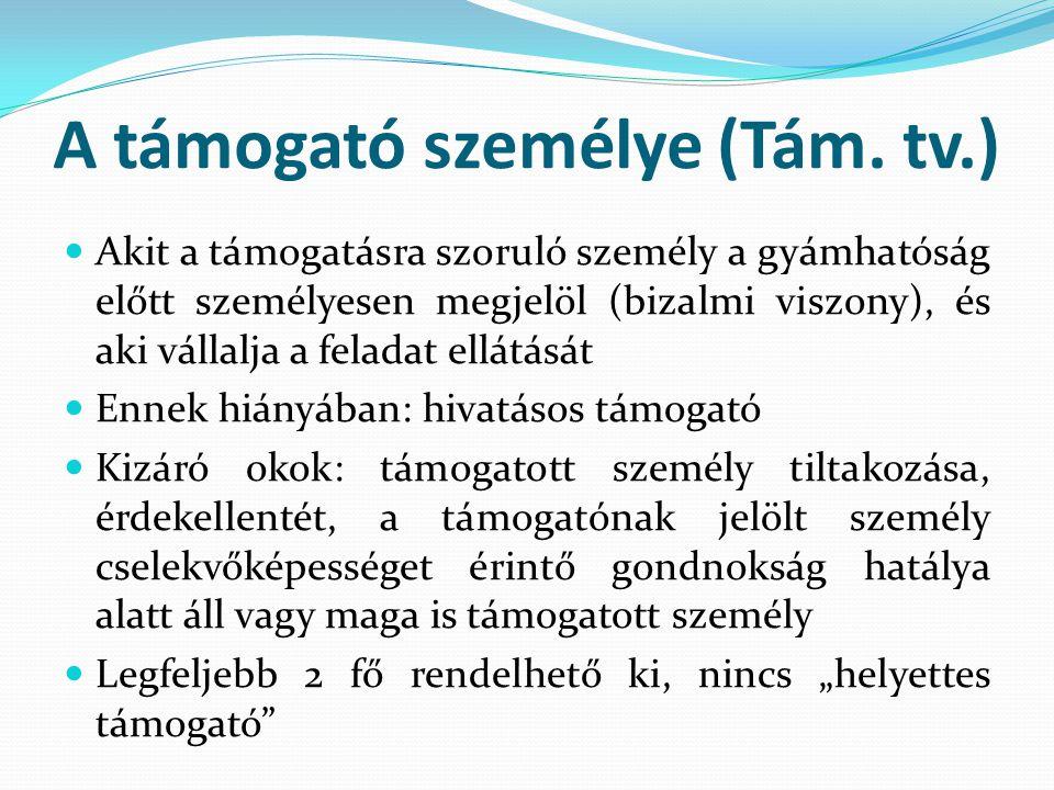A hivatásos támogató (Tám.tv., Gyer.) III.