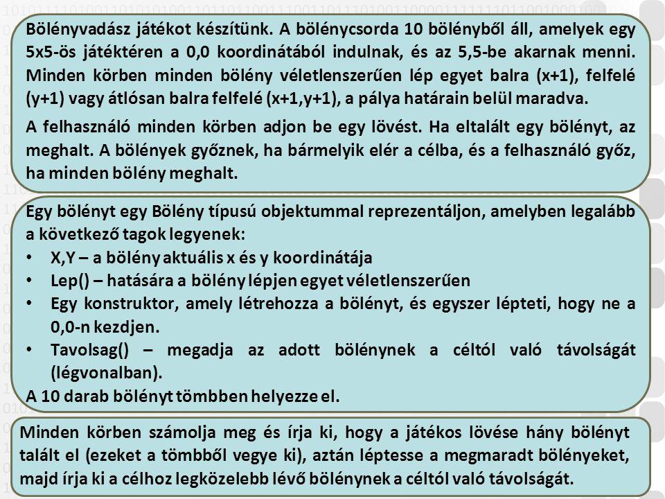 V 1.029 ÓE-NIK-AII, 2014 Bölényvadász játékot készítünk.