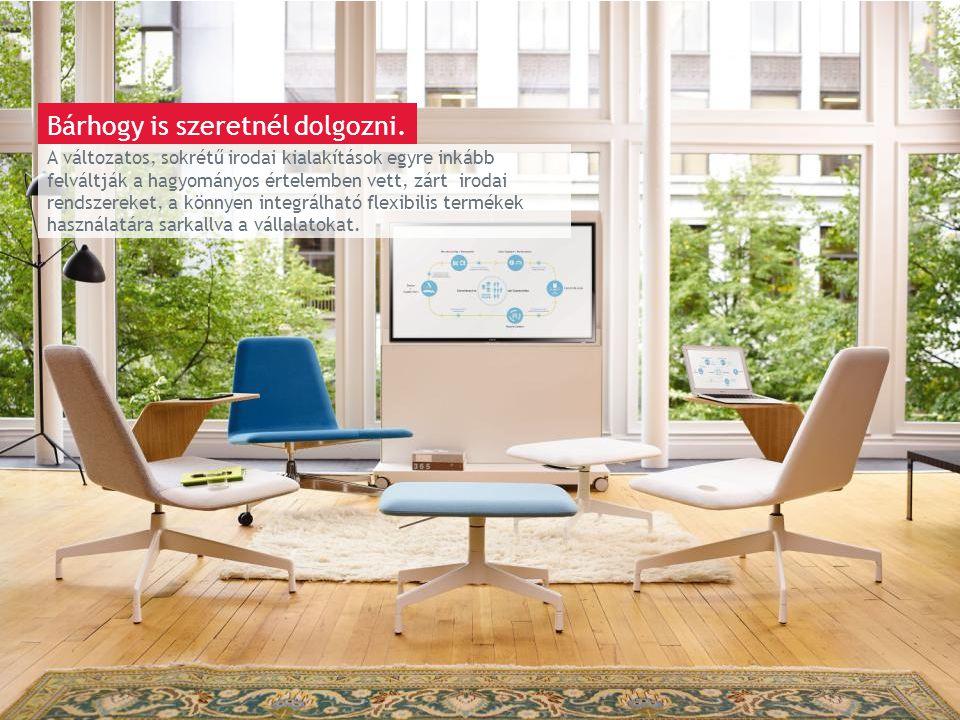 March 13th 2014 | Berlin A változatos, sokrétű irodai kialakítások egyre inkább felváltják a hagyományos értelemben vett, zárt irodai rendszereket, a könnyen integrálható flexibilis termékek használatára sarkallva a vállalatokat.