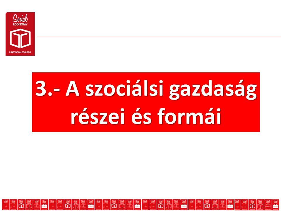 3.- A szociálsi gazdaság részei és formái