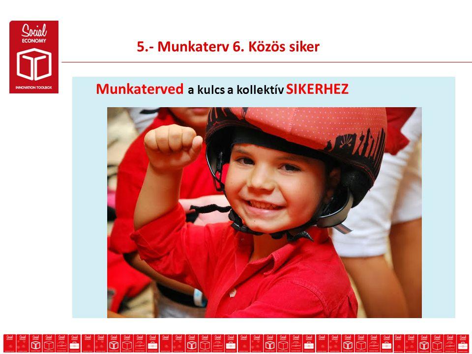 5.- Munkaterv 6. Közös siker Munkaterved a kulcs a kollektív SIKERHEZ