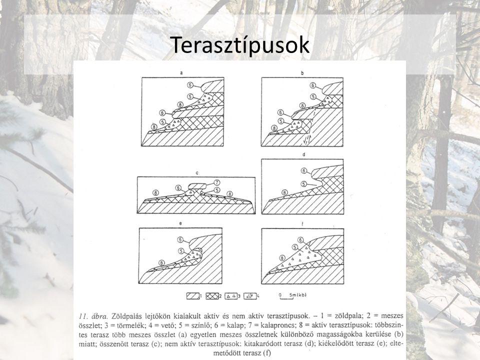 Terasztípusok