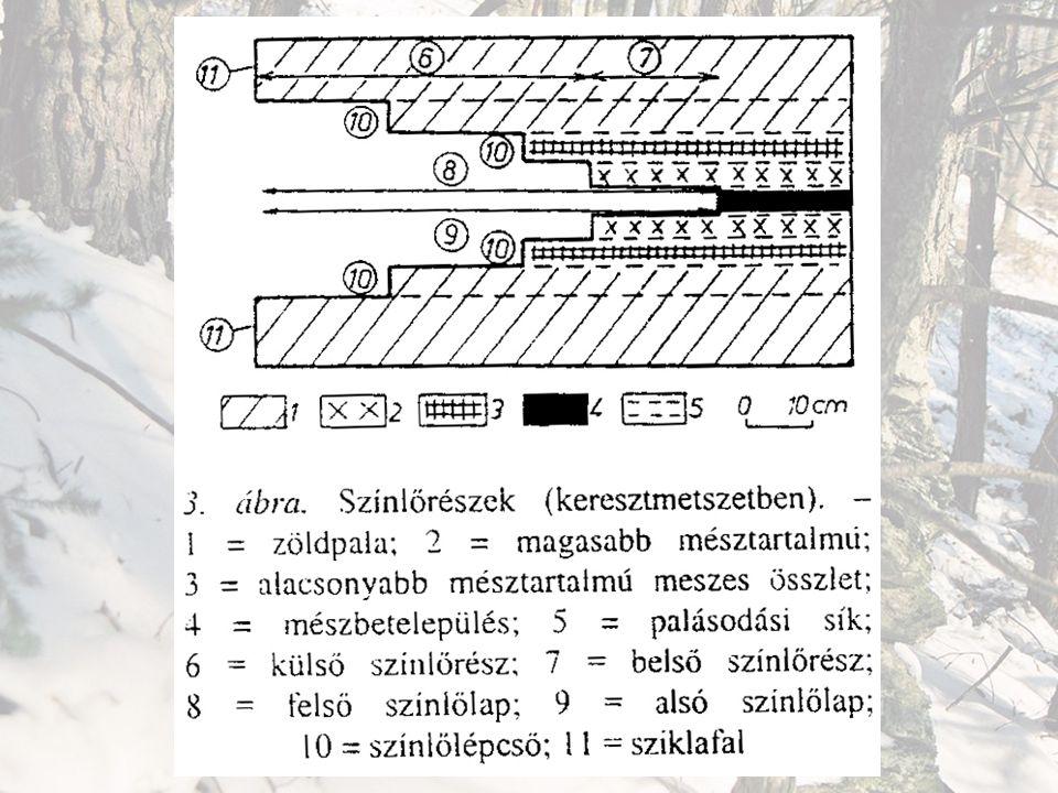 Színlők csoportosítása Méret szerint: – kis (cm), – közepes (dm), – nagy színlők (m): Összetett = Nagy, közepes és kis színlők befelé.