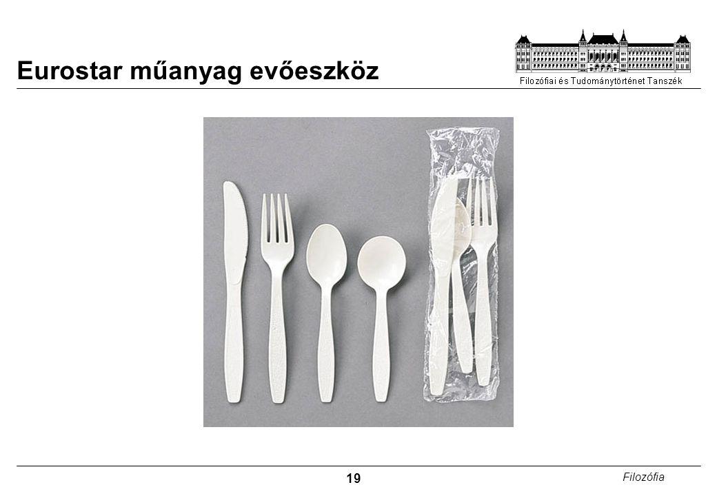 19 Filozófia Eurostar műanyag evőeszköz