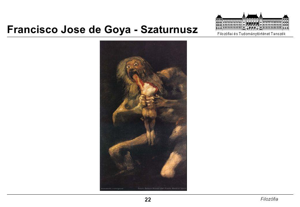 22 Filozófia Francisco Jose de Goya - Szaturnusz