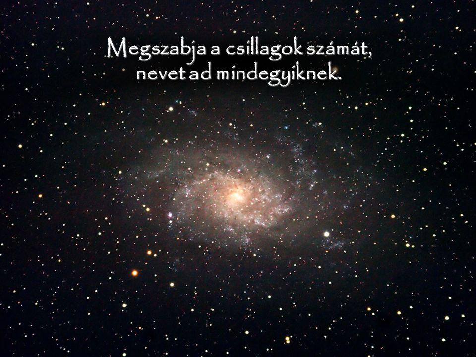 Megszabja a csillagok számát, nevet ad mindegyiknek.