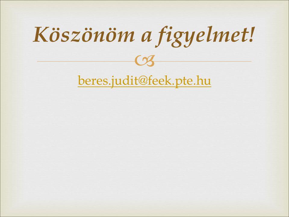  beres.judit@feek.pte.hu Köszönöm a figyelmet!