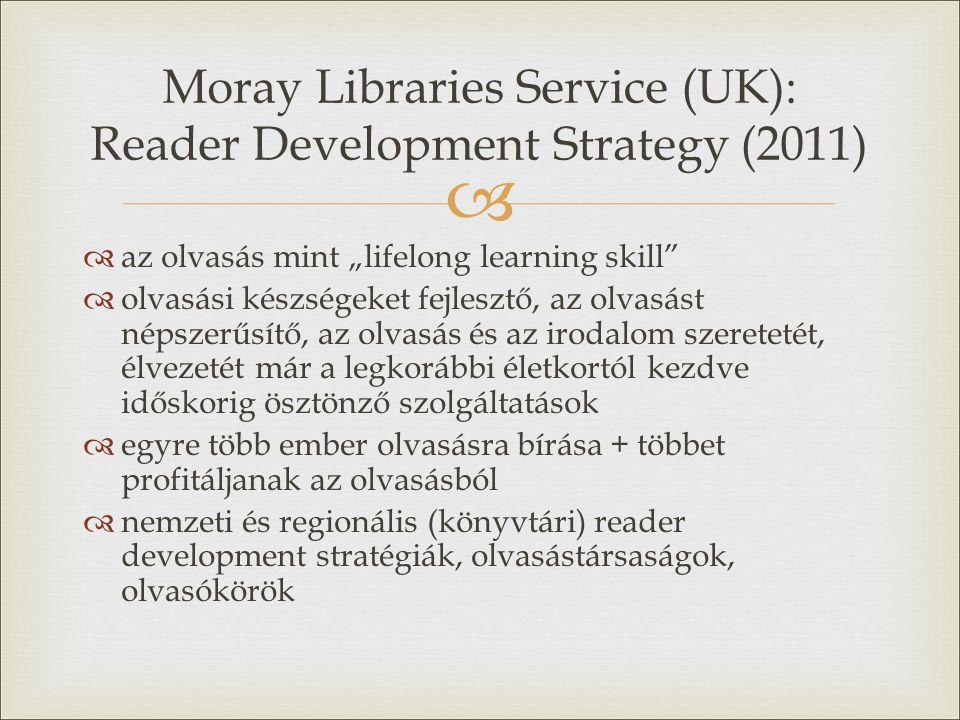   az olvasás, az írás és az irodalom népszerűsítése, megszerettetése egyre szélesebb társadalmi körben  olvasási készségek fejlesztése  az olvasás értékének és fontos szerepének fölfedeztetése a közösség életében  több ember könyvtárhasználatra bírása  a már meglévő olvasók, könyvtárhasználók támogatása korra és társadalmi háttérre való tekintet nélkül – olvasmányválasztásaik szélesítése  lehetőséget kínálni az embereknek olvasmányélményeik megosztására  életteli, barátságos légkör kínálása az olvasóknak, ahol olvasnivalót kereshetnek és olvashatnak  mindenki számára elérhető, az olvasók és a szerzők bevonására alkalmas, aktivizáló, kreatív programok szervezése és népszerűsítése Elérendő célok: