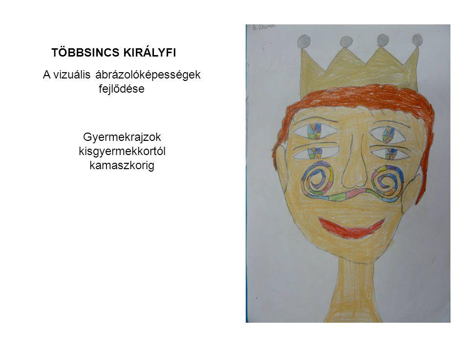 TÖBBSINCS KIRÁLYFI A vizuális ábrázolóképességek fejlődése Gyermekrajzok kisgyermekkortól kamaszkorig