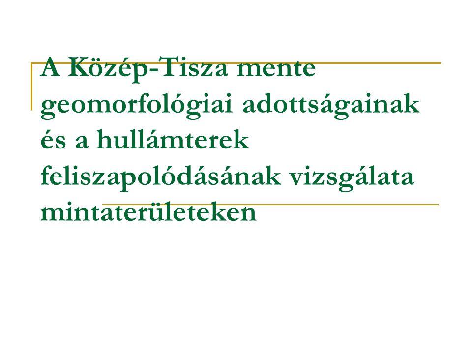 A Közép-Tisza mente geomorfológiai adottságainak és a hullámterek feliszapolódásának vizsgálata mintaterületeken