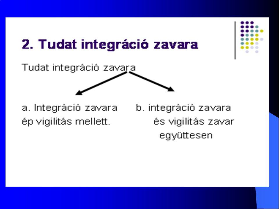 a.Tudat integráció zavara épvigilitás mellett.