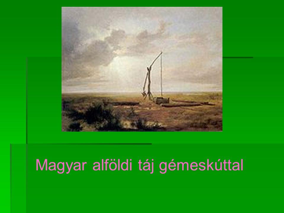 Magyar alföldi táj gémeskúttal