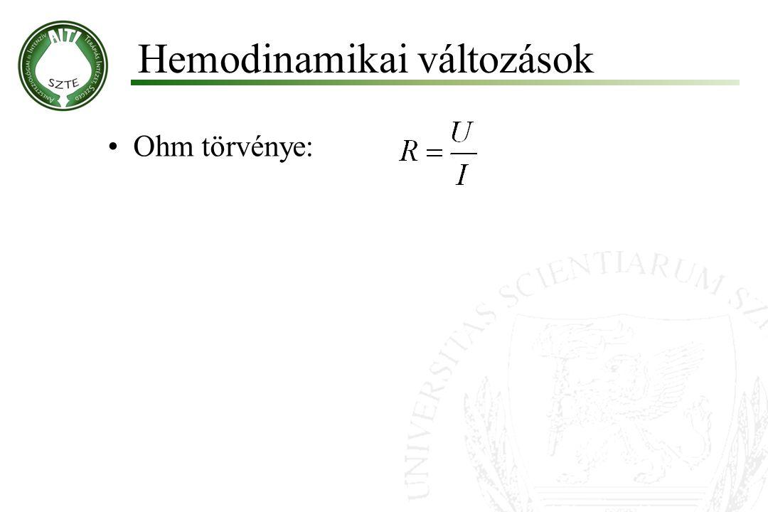 Ohm törvénye: Hemodinamikai változások