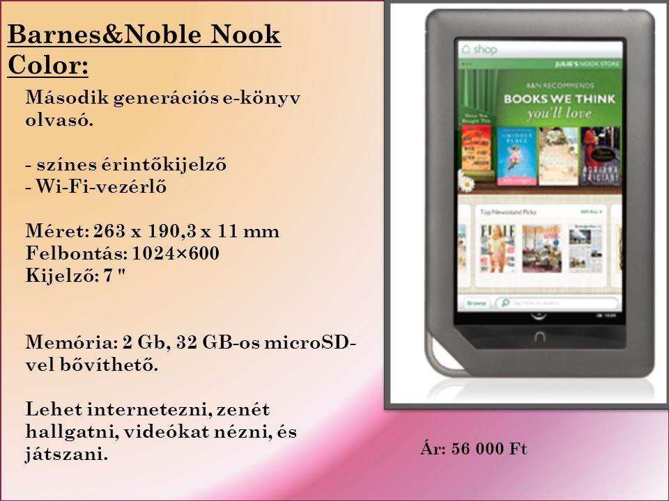 Ár: 56 000 Ft Második generációs e-könyv olvasó.