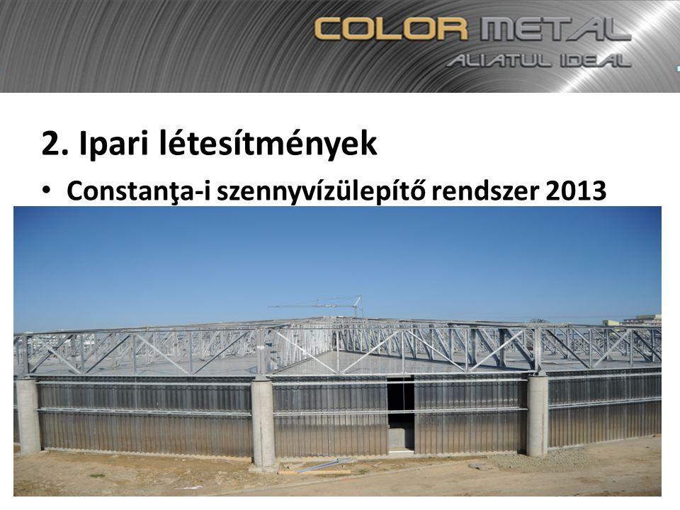 2. Ipari létesítmények Constanţa-i szennyvízülepítő rendszer 2013